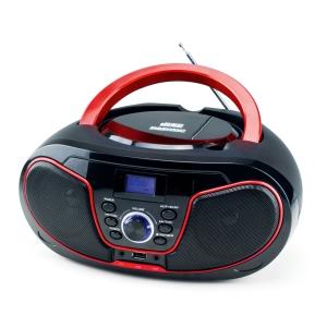 Radio DAEWOO CD con USB negro y rojo