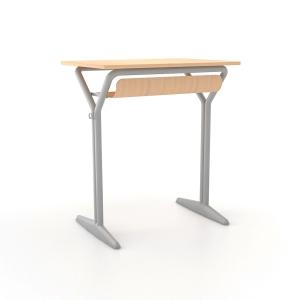 Pupitre individual homologado con estante de madera +SPACE talla 3