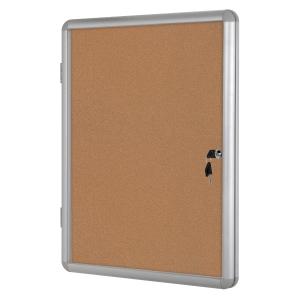 Vitrina para interior BI-OFFICE acrílico con fondo de corcho para 9 hojas A4