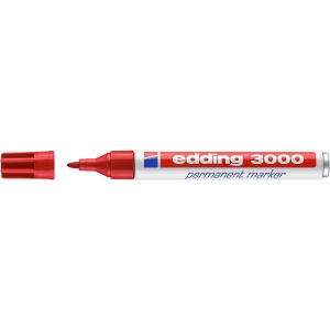 Marcador permanente EDDING 3000 color rojo
