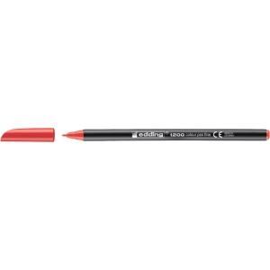 Rotulador de punta de fibra EDDING 1200 color rojo