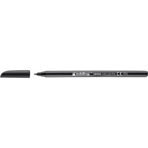 Rotulador de punta de fibra EDDING 1200 color negro