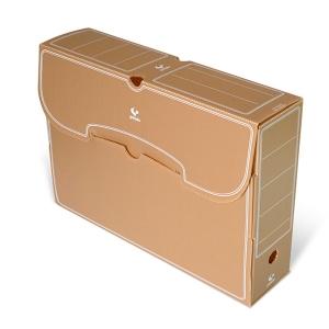 Caja archivo definitivo folio polipropileno marróngRAFOPLAS