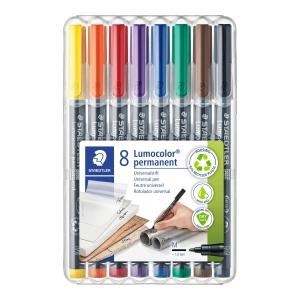 Pack de 8 rotuladores de retroproyección STAEDTLER Lumocolor multicolor 1mm
