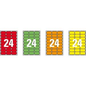 Caja de 480 etiquetas impresión láser APLI 02870 amarillo fluorescente