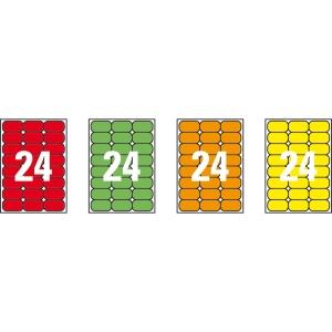 Caja de 480 etiquetas impresión láser APLI 02872 rojo fluorescente