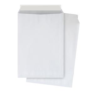 Caja de 250 bolsas DIN C4 - 229 x 324 mm - 90 g/m² - banda adhesiva