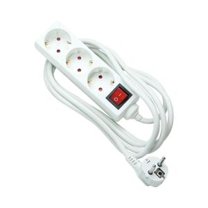 Regleta de conexión con interruptor de 3 salidas