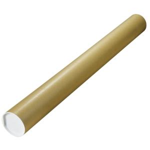 Tubo de cartón para envíos de 80 x 640 mm