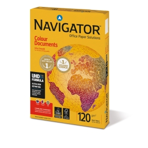 Paquete de 250 hojas de papel NAVIGATOR Colour Documents A4 de 120g/m2 blanco