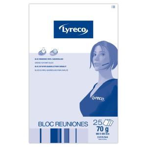 Block de papel cuadrículado para pizarra LYRECO