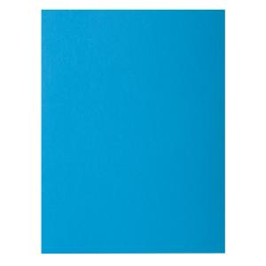 Pack de 100 subcarpetas A4  80g2  EXACOMPTA Azul turquesa intenso