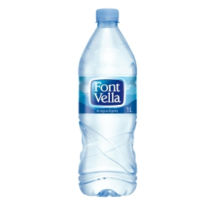Pack de 15 botellas de 1L de agua FONT VELLA