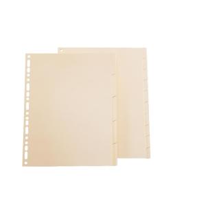 Juego de 10 separadores cartón 155g2  color crema  A4  EXACOMPTA
