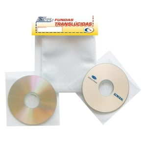 Pack de 100 fundas para CD/DVD s