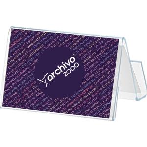 Portatarjetas horizontal transparente ARCHIVO 2000 Dimensiones: 67x92x56mm