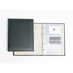 RING CARD HOLDER AUTOGRAPH 615001 A5 BLK