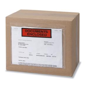 Caja de 250 sobres de envío con ventana y texto impreso de 240 x 115 mm