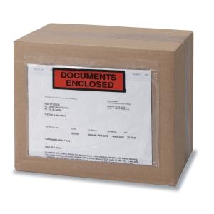 Caja de 250 sobres de envío con ventana y texto impreso de 165 x 225 mm
