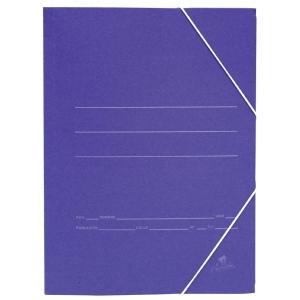 Carpeta gomas profesional  formato folio con solapas  Azul