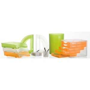 Papelera 17 l naranja translúcido ARCHIVO 2000  Dimensiones: 336x260mm