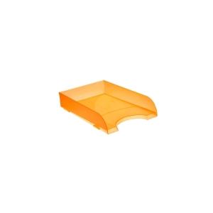 Bandeja porta documentos sobremesa naranja translúcido ARCHIVO 2000