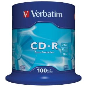 Bobina de 100 CD-R VERBATIM 80  700 Mb no imprimibles