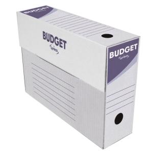 Pack de 50 cajas archivo definitivo  blanco-gris  formato folio  LYRECO Budget