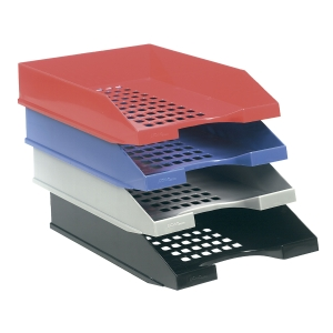 Bandeja porta documentos  color azul ARCHIVO 2000 Dimensiones:  250x65x340mm
