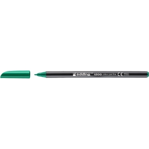 Rotulador de punta de fibra EDDING 1200 color verde