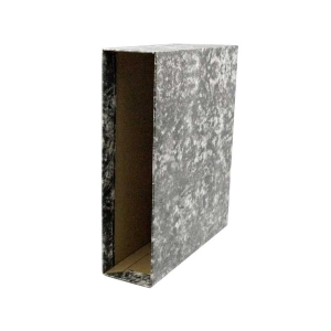 Cajetín palanca cartón jaspeado lomo 82mm  formato A4 LYRECO