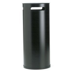 Paragüero metálico negro con asasg-10  Dimensiones: 500mm alto x 215mm diámetro