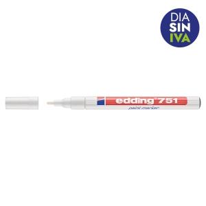 Marcador opaco EDDING 751 color blanco