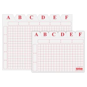 Juego de separadores A-Z de cartón de 500g2  Dimensiones:    65 x 95mm
