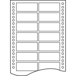 Caja de 12000 etiquetas APLI 14 impresora matricial 2 salidas 88,9x23,3mm blanca