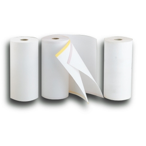 Bobina de papel para télex - 210 mm x 80 m