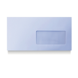 Caja de 500 sobres DL con ventana - 110 x 220 mm - banda adhesiva
