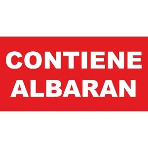 Rollo 200 etiquetas APLI autoadhesivas CONTIENE ALBARÁN de 50 x 100 mm