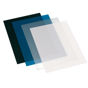 Pack de 100 cubiertas para encuadernar A4 en polipropileno negro