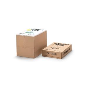Caja 5 paquetes 500 hojas papel STEINBEIS ClassicWhite A4 80g/m2 reciclado