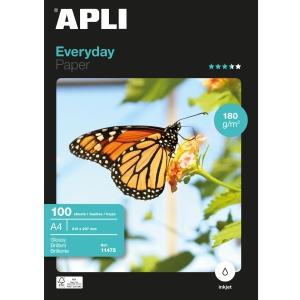Paquete de 100 hojas papel A4 Everyday APLI de 180g/m2 PEFC