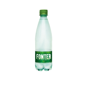 Pack de 6 botellas de agua con gas FONTER de 50 cl