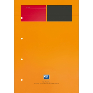 Block grapado 80 hojas amarillas microperforadas A4 80gr/m2 OXFORD Internacional
