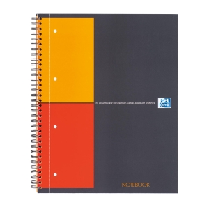 CUADERNO OXFORD NOTEBOOK CONNECT 80 HOJAS A4+ 5X5 NEGRO