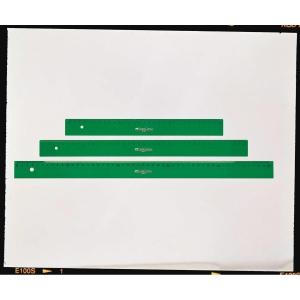 Regla milimetrada FABER CASTELL de 20 cm color verde
