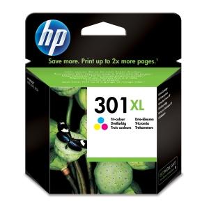 Cartucho de tinta HP 301XL tricolor alta capacidad CH564EE para DeskJet 1050
