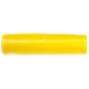 Rollo de 10 bolsas de basura de 110 litros 800x1050mm color amarillo