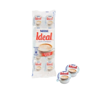 Pack de 10 terrinas individuales de 10g de leche evaporada NESTLÉ Ideal