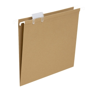 Pack de 50 carpetas colgantes visión superior  folio  LYRECO BUDgET  kraft