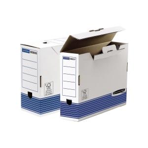 Pack de 10 cajas archivo definitivo recicladas folio Lomo 100mm FELLOWES